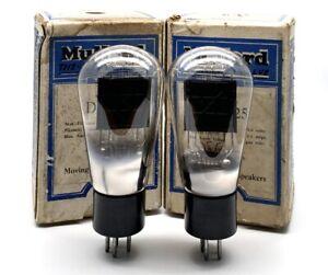 Rare Pair Mullard DO25 DO/25 Balloon Shape Output Power Valves Used Tested