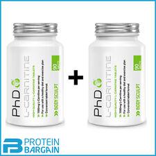 2 x PhD Nutrition L-Carnitine 90 Tablets L Carnitine Weight Loss Slimming Pills