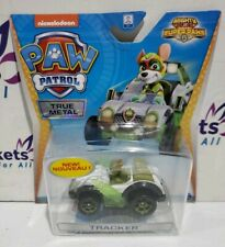 PAW PATROL True Metal - Mighty Pups Super Paws: TRACKER Figure & Vehicle