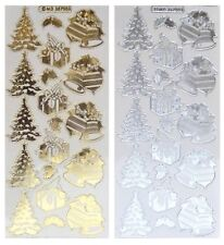360 Small Merry Christmas Gold Peel Offs