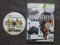 USED XBOX 360 Games Lot Battlefield Bad Company 1 & 2 - Free Shipping