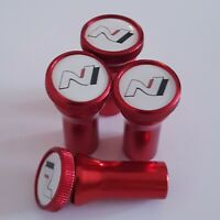 HYUNDAI N wheel Valve Dust caps with free stem covers Red i30 i30n i30 N 5 color