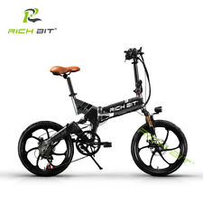 "RICHBIT Electric Mini Folding Bike 250W 48V BMX 20"" Road Bicycle red"