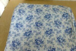 1 x Bauern Bettbezug Nadeldruck 100% Baumwolle Blaue Rosen  ca.1,70m x 1,40 m