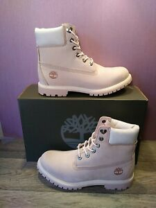 Timberland Women 6 inch Light Pink Nubuck Premium Boot OA2A8H