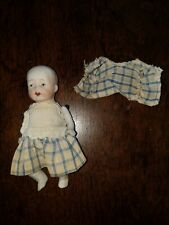 Vintage Bisque Doll Baby Wire Wire Jointed Original Clothing Japan 5�