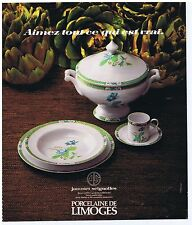 PUBLICITE ADVERTISING 104 1978 Jammet  Seignolles porcelaine de Limoges Lotus