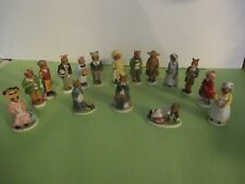 1985 Franklin Mint Woodmouse Family - 16 Porcelain Figurines - Adorable Mice !