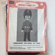 "GRENADIER Soldier Needlework Kit Toy Doll 25"" Tall Sears 5119 Vintage"