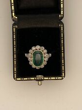 18ct Emerald 2.29ct And Diamond Cluster Ring