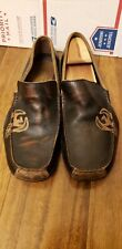 SKECHERS Brown Leather Driving Moccasins Slip On Men's Size 10.5