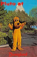 Pluto At Disneyland 1950-60s Chrome Postcard Anaheim California Where is Mickey?