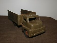 """VINTAGE 12 1/2"""" LONG STRUCTO TOYS WWII METAL ARMY SOLDIERS TRUCK"""