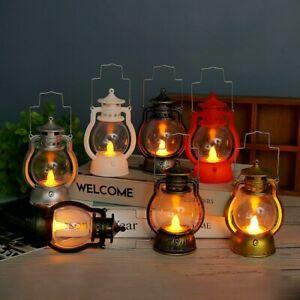 Halloween Retro Colorful Small lantern LED lamp Transparent plastic lampshade