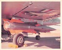 Original Vintage Photograph Missile Mounted On USAF Plane  #88