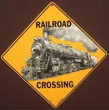 RAILROAD CROSSING Sign new diesel novelty decor picture signs trains home r.r.