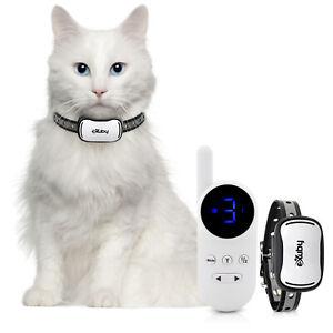 eXuby - Cat Shock Collar w/Remote - Sound, Vibrate & Shock Mode - White Remote