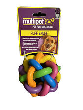 """Multipet Nobbly Wobbly Rubber Ball, Dog Toy, 4"""""""