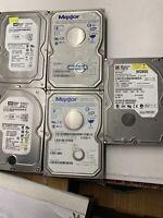 Lot of 5 IDE Hard Drives Maxtor, WD, 250GB, 160GB, 120GB, 80GB + 1 SATA 250GB