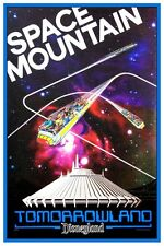 "DISNEY COLLECTORS POSTER 12"" x 18""- SPACE MOUNTAIN DISNEYLAND 1977"