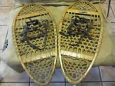 Vintage Wooden Snow Shoes > Antique Ice Sports Shoe Wood Primitive RARE 10014
