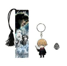 Ron Weasley Bookmark Gift Set Bundle, Acrylic Keychain, Hogwarts Pewter Pin