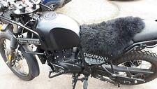 Motorcycle Sheepskin seat cover BMW Honda Suzuki Yamaha KTM Enfield Triumph