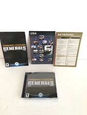 Command & Conquer: Generals PC 2003 Computer Game Good Condition Light Wear