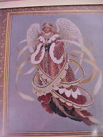 Cross Stitch Chart Angel of Christmas Lavender & Lace Designed for 32 Ct Linen