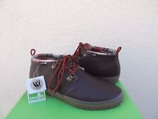 SANUK CARGO DELUXE BROWN LEATHER CHUKKA ANKLE BOOTS, US 9.5/ EUR 42.5 ~NWT