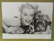 Giant approx 7x5'' MARILYN MONROE postcard 1957 with stuffed tiger