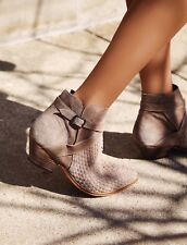 NEW Free People Venture Woven Suede Boots Size 37