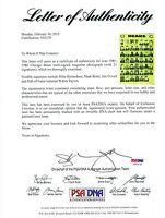 PSA Walter Payton 1985 1986 Chicago Bears TEAM Autographed Signed Football Photo