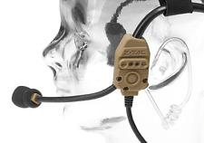 Z-TACTICAL X-62000 Headset TAN DE COMUNICAZIONE RADIO CUFFIE AIRSOFT SOFTAIR