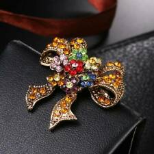Lovely Bow Brooches For Vintage Creative Gift fashion Women Christmas Suit Pins