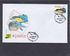Cyprus Turkish 2017 Dolphin First Day Cover FDC Lefkosa pictorial h/s