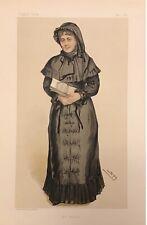 Original Vanity Fair Print 1884 'Mrs Weldon' Georgina Weldon - Ladies
