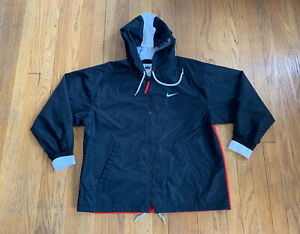 Vintage 90's Nike Windbreaker Womens Small Black And Red EUC Rare