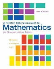 A Problem Solving Approach to Mathematics for Elementary School Teachers by Shl…