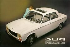 Peugeot 304 Saloon 1970-71 UK Market Sales Brochure