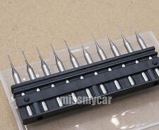 "10pcs PCB end mill engraving cnc router tool bits 1/8"" (3.175mm)-0.8mm L:38mm"