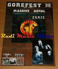 POSTER metal PROMO GOREFEST ERASE 84X59,5cm NOcd dvd vhs lp live mc