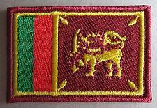 Sri Lanka Flag Small Iron On / Sew On Cloth Patch Badge Sri Lankan Srilanka LK