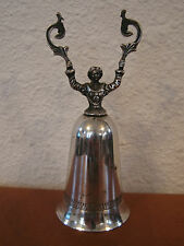 Vintage Antique Silver Plated Candle Snuffer w/ Figural Female Decoration