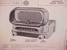 1951 CHEVROLET STYLELINE FLEETLINE CONVERTIBLE COUPE AM RADIO SERVICE MANUAL 3