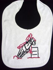 BARREL RACING - HORSE RODEO BIB- AVAIL. IN WHITE PINK & BLUE BIB BRAND NEW