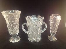 Lot of 3 Assorted Fostoria Glass Vases