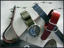 22mm Blue NATO G10 Shell Leather UTC Flieger Pilot strap watch band IW SUISSE 20