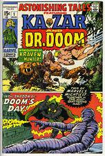 ASTONISHING TALES #1 - Ka-Zar by Kirby - Dr Doom by Wood