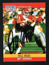 Bill Maas #145 signed autograph auto 1990 Pro Set Football Trading Card